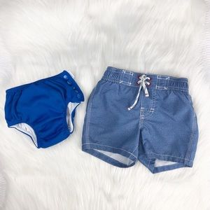 Gap Kids Swim Trunks + Swim Diaper iplay